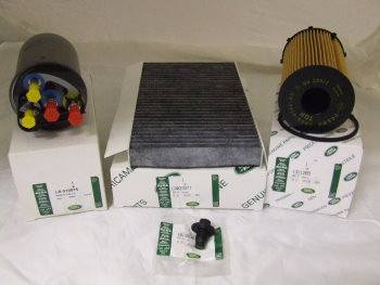 discovery 3 tdv6 diesel 60 000k service kit (genuine) (with early type fuel